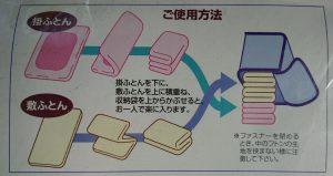 フトン袋の使い方